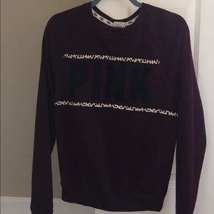 Maroon crew neck from VS Pink (XS/S)